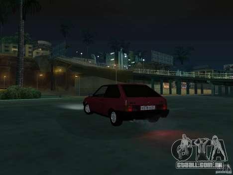 VAZ 2108 dreno para GTA San Andreas vista interior
