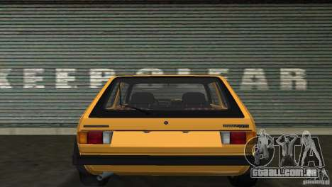 Volkswagen Golf Mk1 GTI para GTA Vice City vista direita