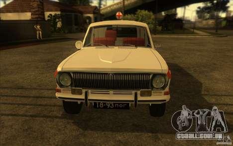 Ambulância de Volga GAZ-24 03 para GTA San Andreas vista direita