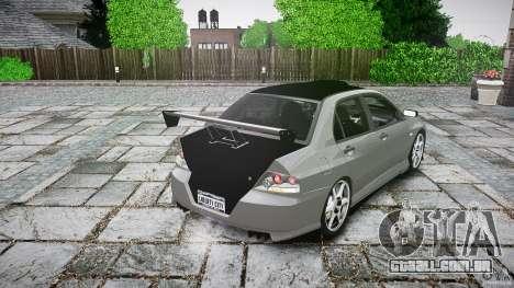 Mitsubishi Lancer Evolution VIII v1.0 para GTA 4 traseira esquerda vista