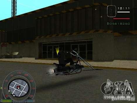 Moto de motociclista da cidade alienígena para GTA San Andreas vista direita