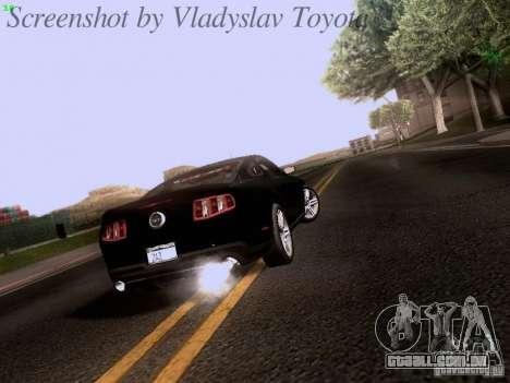 Ford Mustang GT 2011 Unmarked para GTA San Andreas vista direita