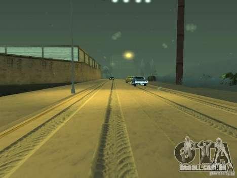 Neve v 2.0 para GTA San Andreas nono tela