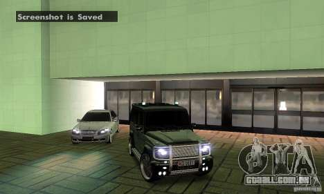 Mercedes Benz G500 ART FBI para GTA San Andreas vista superior