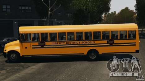 School Bus v1.5 para GTA 4 esquerda vista