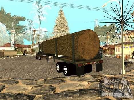 Árvore derrubada para GTA San Andreas traseira esquerda vista