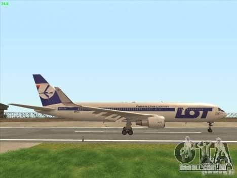 Boeing 767-300 LOT Polish Airlines para vista lateral GTA San Andreas