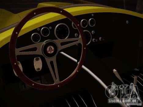 Shelby Cobra 427 para GTA San Andreas vista direita