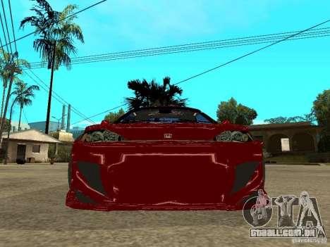 Honda CRX ED9 para GTA San Andreas vista direita