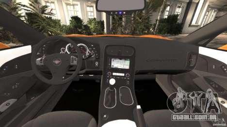 Chevrolet Corvette C6 Grand Sport 2010 para GTA 4 vista de volta