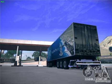 Trailer de Scania R620 Dubai Trans para GTA San Andreas vista direita