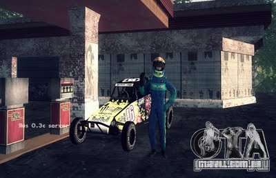 Buggy Monster energy para GTA San Andreas traseira esquerda vista