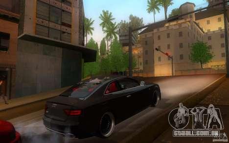 Audi S5 Black Edition para GTA San Andreas vista direita