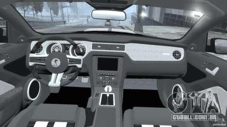 Ford Shelby GT500 2010 [Final] para GTA 4 vista direita