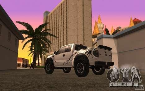 Ford F150 SVT RapTor para GTA San Andreas vista superior