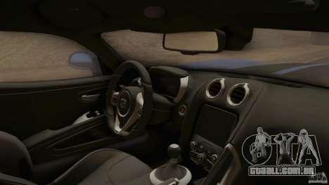 Dodge Viper GTS 2013 para GTA San Andreas vista direita