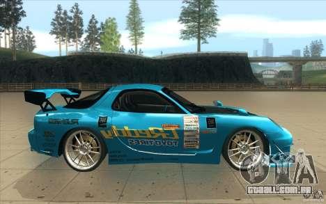 Mazda RX-7 911 Trust para GTA San Andreas vista interior