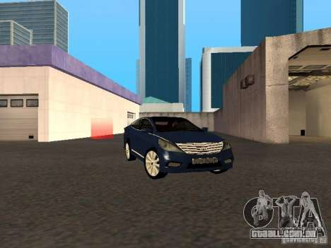 Hyundai Azera 2012 para GTA San Andreas