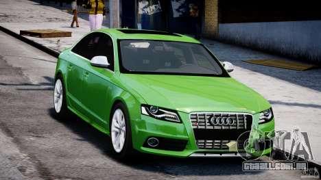 Audi S4 2010 v1.0 para GTA 4 vista de volta