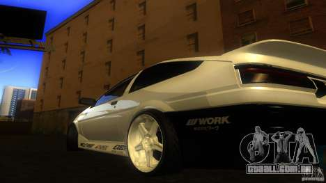 Toyota AE86 Trueno Touge Drift para GTA San Andreas traseira esquerda vista
