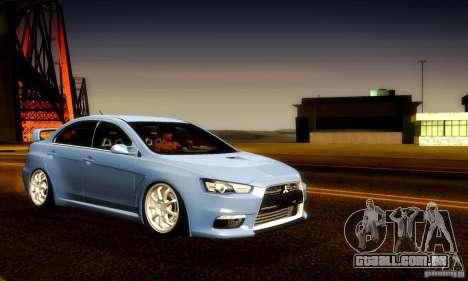 Mitsubishi Lancer Evolution X para o motor de GTA San Andreas