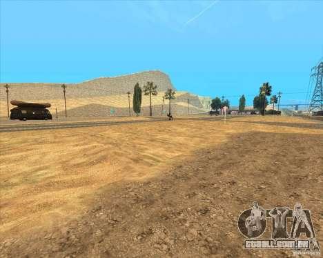 Desert HQ para GTA San Andreas oitavo tela