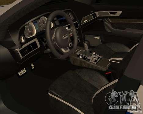 Audi RS6 2010 DPS para GTA San Andreas vista direita