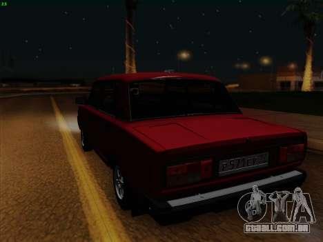 VAZ 21054 para GTA San Andreas vista traseira