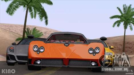 Pagani Zonda F para GTA San Andreas esquerda vista
