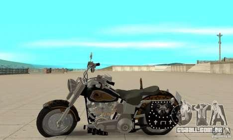 Harley Davidson FLSTF (Fat Boy) v2.0 Skin 5 para GTA San Andreas esquerda vista
