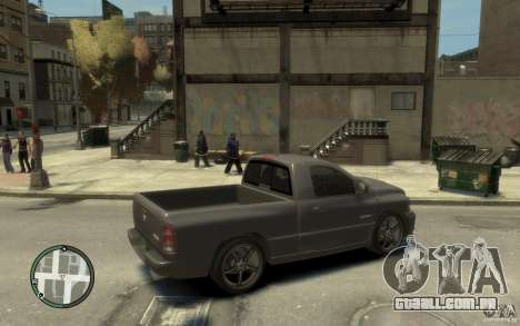 Dodge Ram SRT10 para GTA 4 vista direita