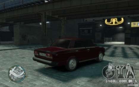 VAZ 2107 para GTA 4 traseira esquerda vista