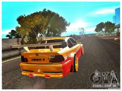 BMW M3 Calibri-Ace para GTA San Andreas traseira esquerda vista