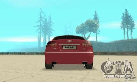 Audi A8L 4.2 FSI para o motor de GTA San Andreas