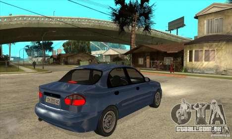 Daewoo Lanos v2 para GTA San Andreas vista direita