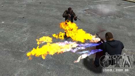 Balas de fogo para GTA 4 por diante tela