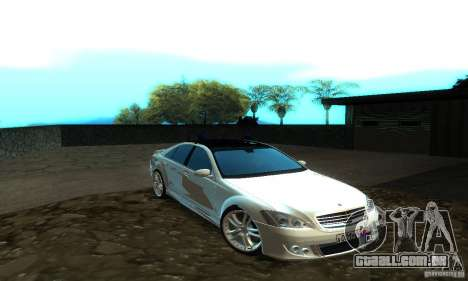 Mercedes-Benz S500 W221 Brabus para GTA San Andreas esquerda vista