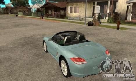 Porsche Boxster S 2010 para GTA San Andreas traseira esquerda vista