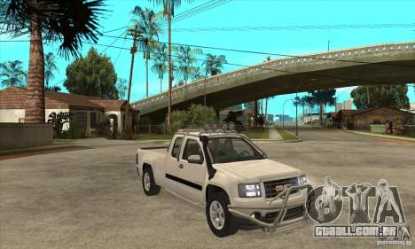 GMC Sierra para GTA San Andreas vista traseira