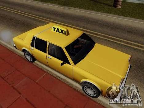 Greenwood Taxi para GTA San Andreas traseira esquerda vista