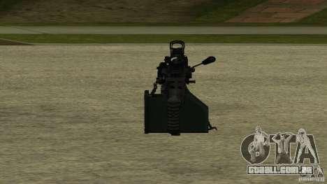 M240 para GTA San Andreas por diante tela