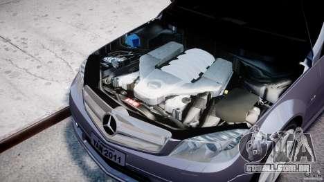 Mercedes-Benz C180 CGi Classic Special 2009 para GTA 4 vista direita