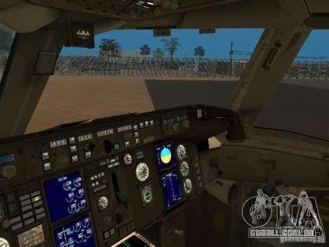 Boeing 757-200 American Airlines para GTA San Andreas vista traseira