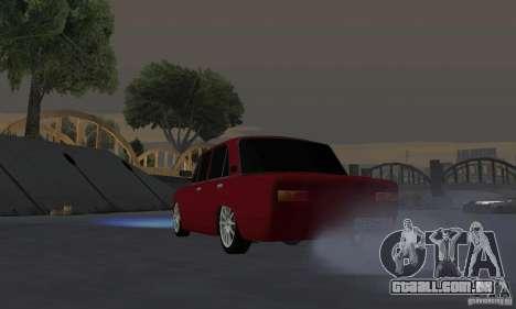 VAZ 2101 Restyling para GTA San Andreas vista traseira