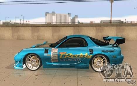 Mazda RX-7 911 Trust para GTA San Andreas esquerda vista