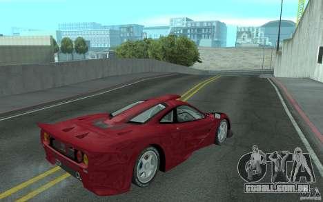 Mclaren F1 GT (v1.0.0) para GTA San Andreas vista direita