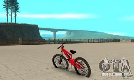 Novo BMX para GTA San Andreas traseira esquerda vista