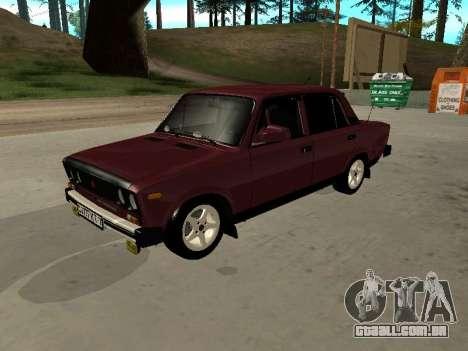 21065 v 2.0 VAZ para GTA San Andreas vista traseira
