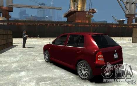 Skoda Fabia para GTA 4 traseira esquerda vista
