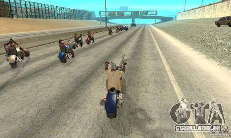 BikersInSa (os motociclistas em SAN ANDREAS) para GTA San Andreas quinto tela
